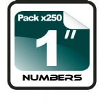 "1"" Race Numbers - 250 pack"